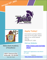 MDAE Application Flyer